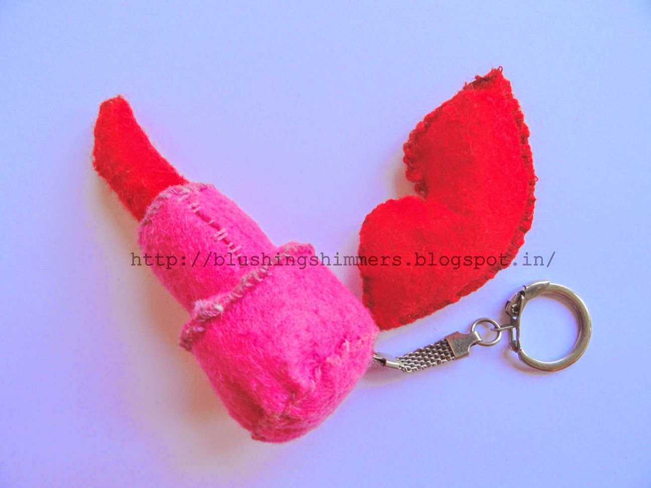 lipstick soft toy key chain