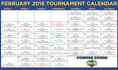 February Tournament Calendar