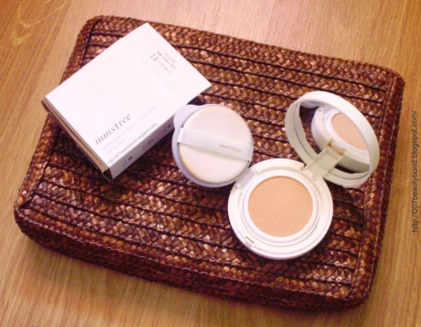 innisfree Ampoule Intense Cushion 13 Light Beige review and swatches makeup for pale skin