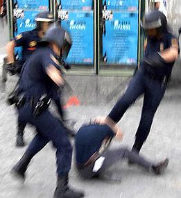 Me golpearon policías de Metepec