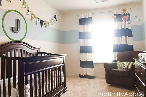 goat lulu nursery diy week tutorial painted striped curtains