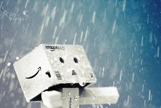 Danbo sedih dan mandi air hujan
