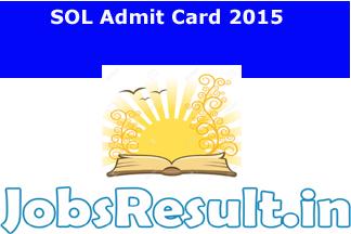 SOL Admit Card 2015