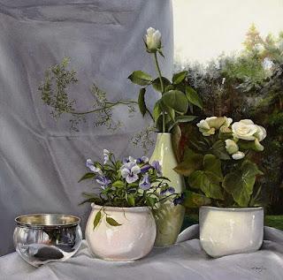 Pinturas Floreros con Flores Oleo