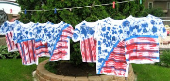 4th of July Shirts - Drying