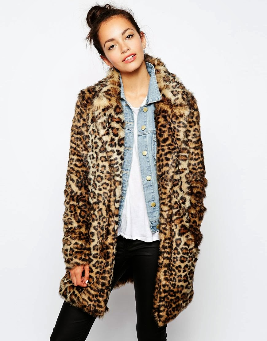 new look leopard coat