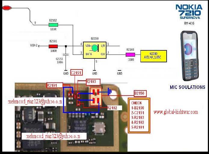 7210c Nokia mic solution