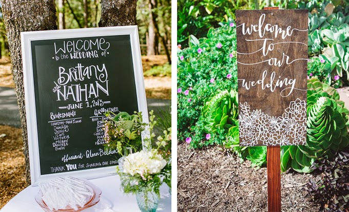 12 Delightful Ways To Use Wedding Signs Throughout Your Wedding - Welcome Guests