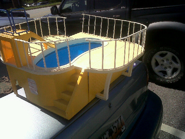 the squeaky grocery cart thrift find vintage barbie swimming pool