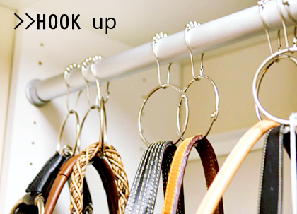 Use Accessory Hooks Or S Hooks On The Closet Rod And Arrange Your Bags By  Size Or Colour. For A More Creative Alternative, Try Using Shower Rings (as  Below) ...