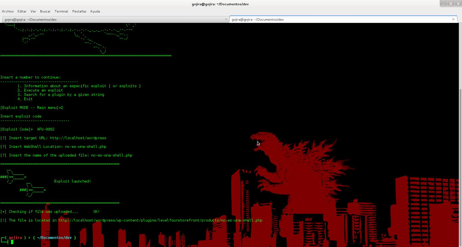 Pwneando blogs en WordPress con Gorija desde Linux Goj4