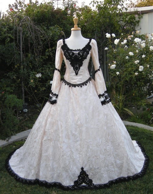 out this sellers outfits if this dress in anyway interests youGothic White Wedding Dresses