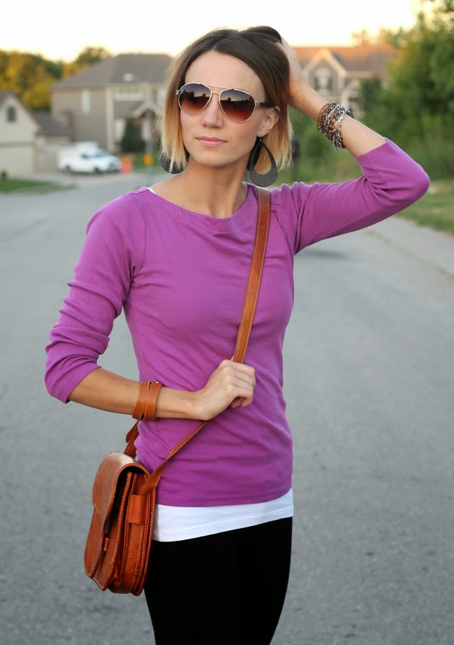 Radiant orchid, black and leopard accents