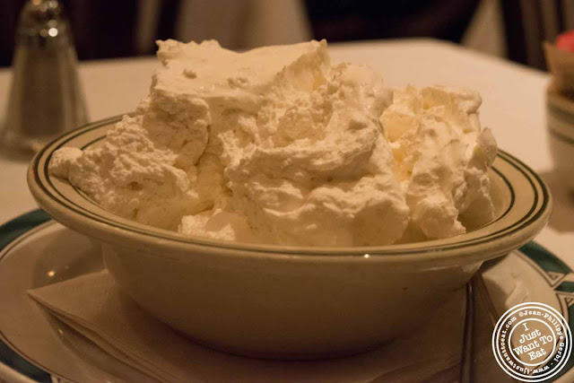 Image of Whipped cream at Ben and Jack's steakhouse in Murray Hill NYC, New York