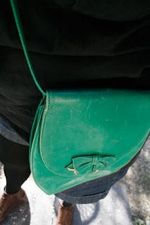 Sac bandoulière vert vintage !
