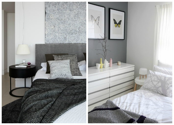 White bazaar bedroom inspiration shades of grey for Bedroom inspiration