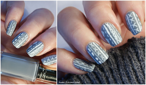 Grey Winter Sweater Nails