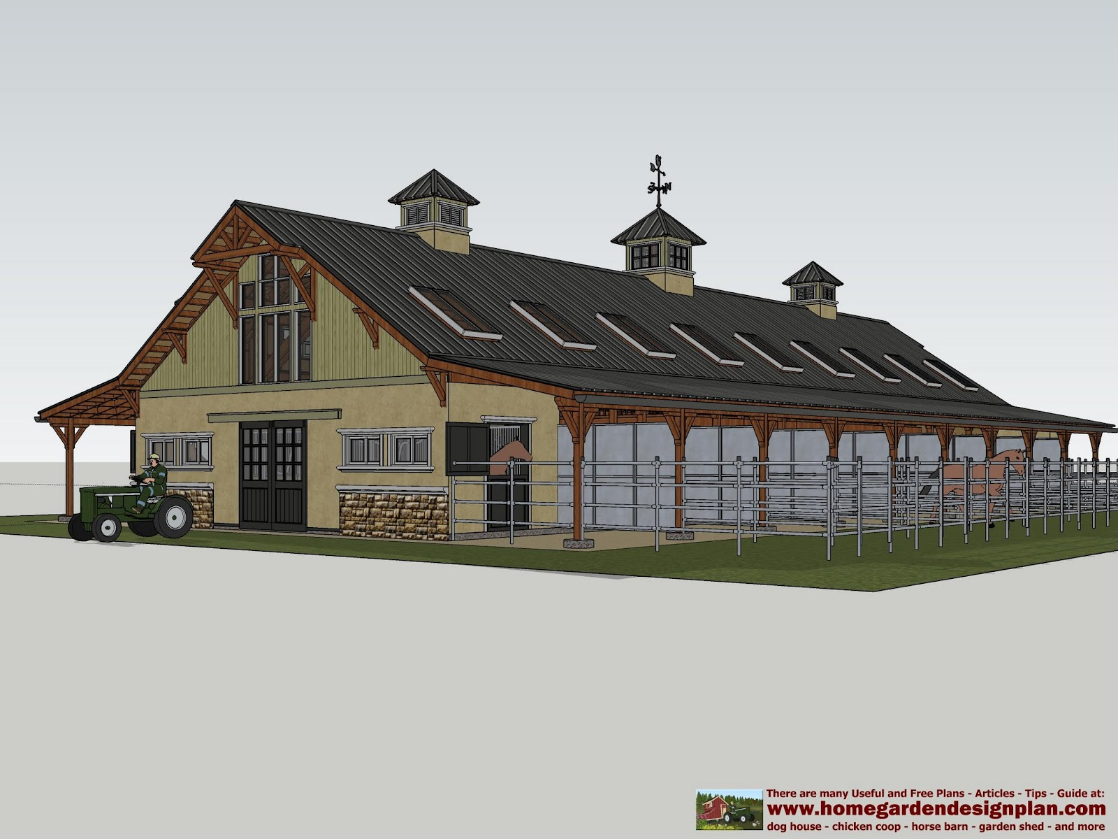 Mina hb100 horse barn plans horse barn design for Barn designs for horses