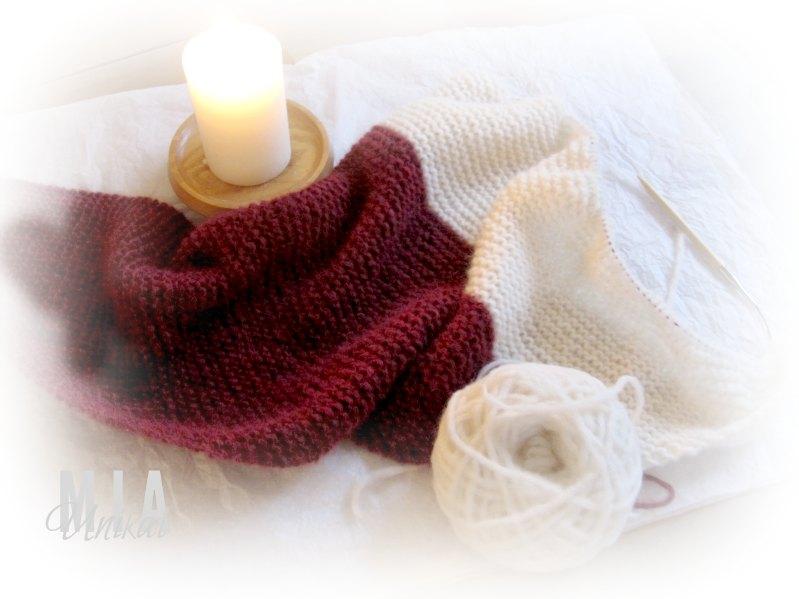 Ich strick für dich das einfachste schönste Tuch der Welt! ♥ - die 2te