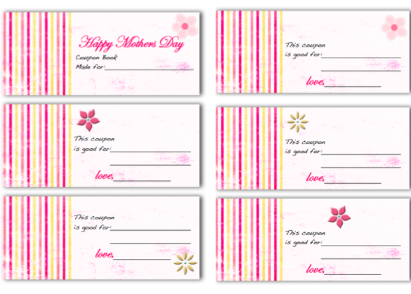 Mothers Day Coupon Book |