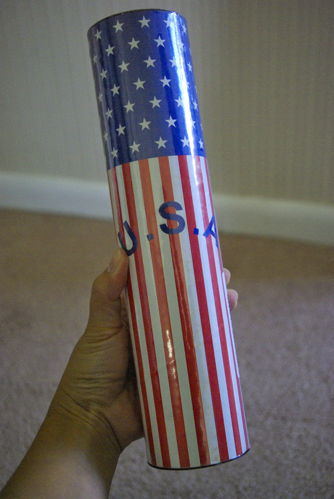 Super Bright Glow Sticks Patriotic Canister
