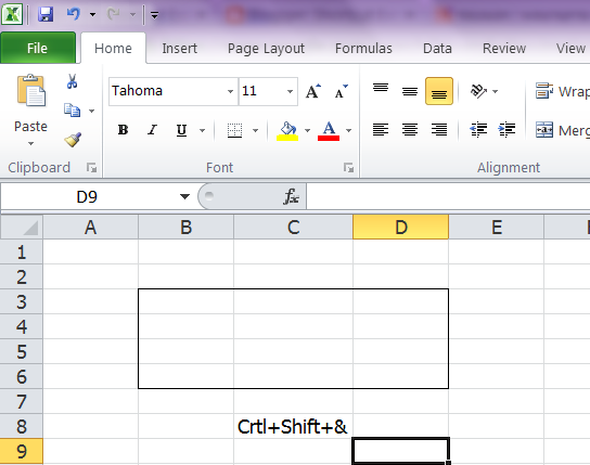 how to delete multiple cells in excel shortcut