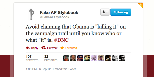 Fake AP Stylebook