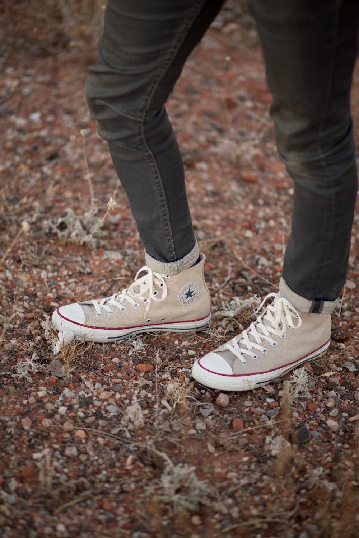 Leather Hightop Converse