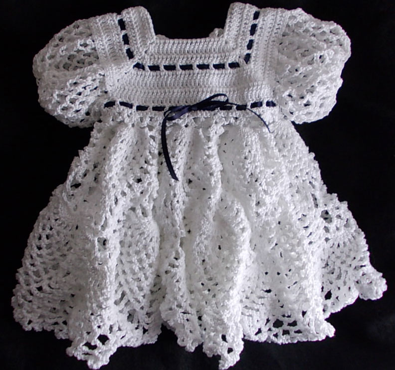 Crochet - Babys Heirloom Wardrobe - Graceful Gown Silvery Moon ...