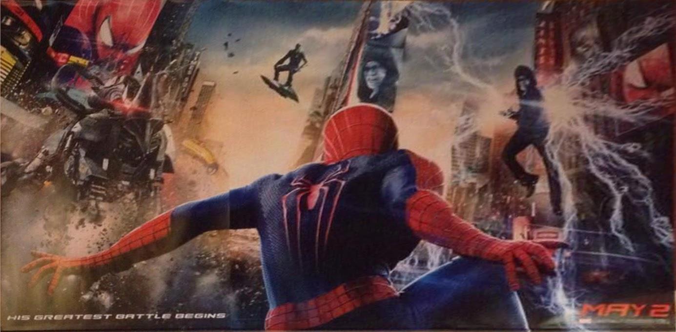 """Rhino, Electro y el Duende Verde en el poster de """"The Amazing Spider-man: The power of Electro"""""""