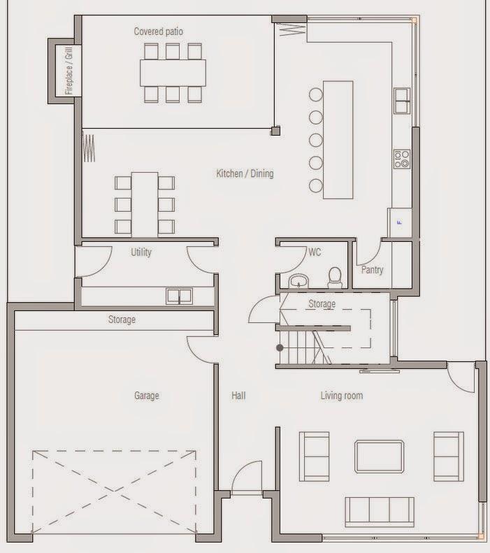 Planos de casa de 4 dormitorios