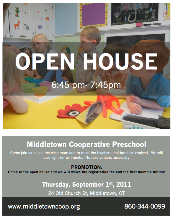 Gallery For gt Preschool Open House Invitation Template