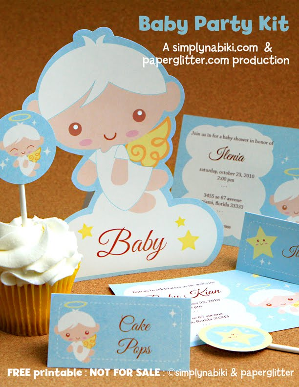 Free printable party printable kawaii paper crafts for Baby shower paper crafts
