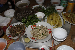 Dinner at a Thai ethnic minority house