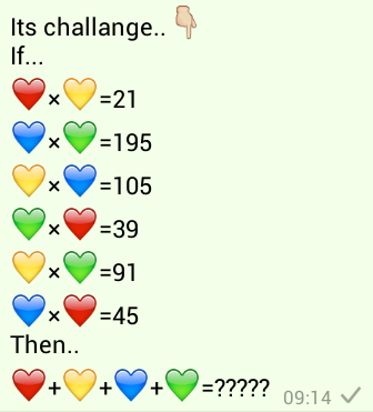 Its Challenge..Red, Yellow, Blue, Green Heart Puzzle