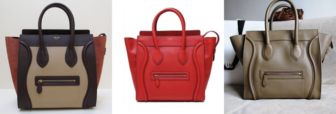 celine luggage handbag red