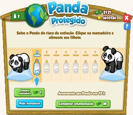 Panda em extinção
