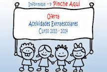 ACTIVIDADES EXTRAESCOLARES 2013/2014