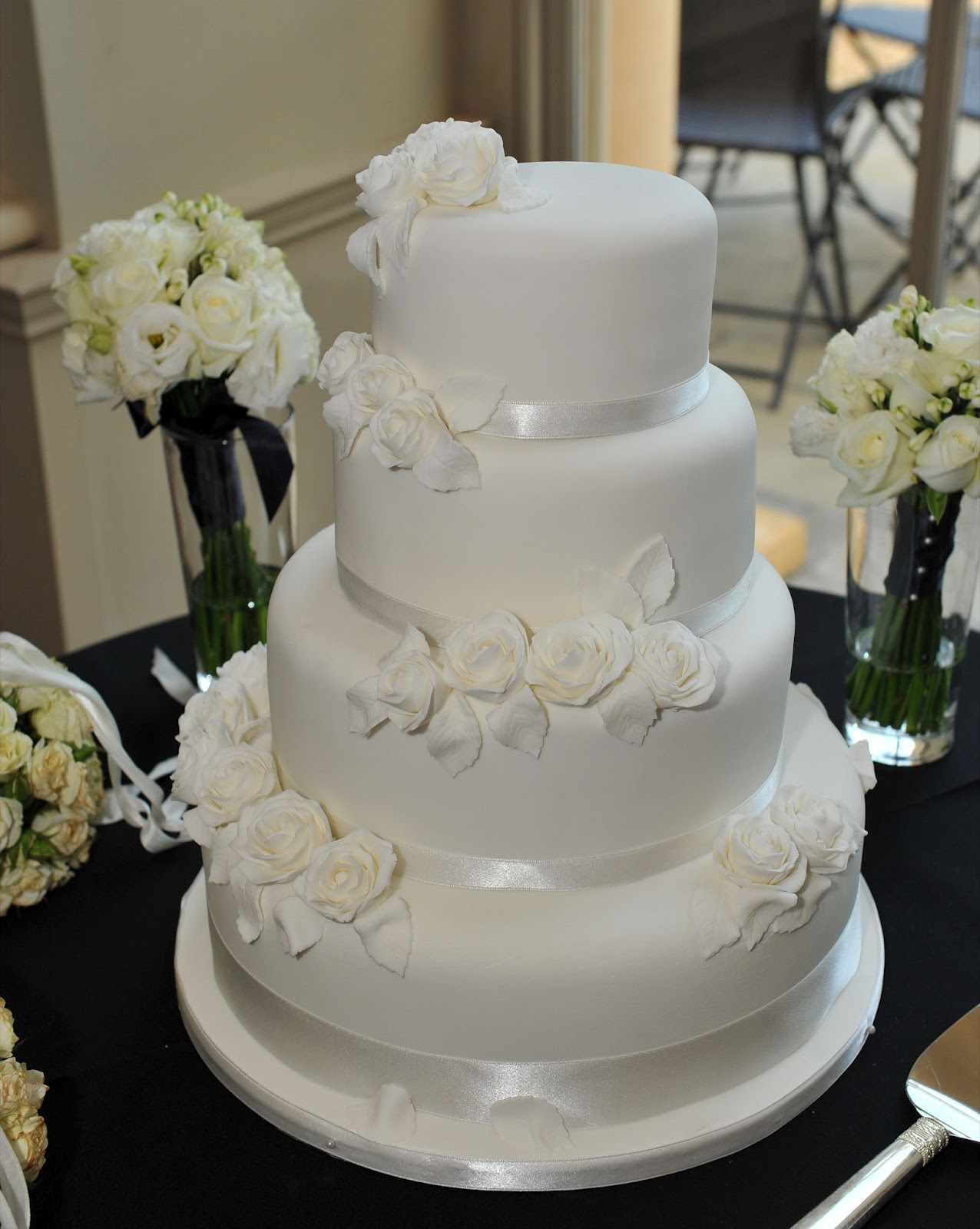Simply divine All White Wedding Cake Designs Wedding