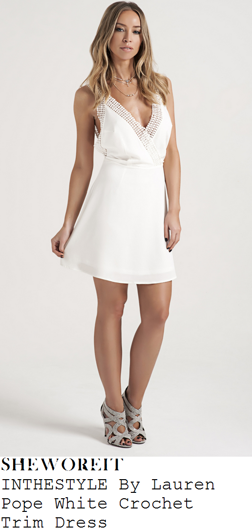 lauren-pope-white-crochet-detail-sleeveless-mini-dress