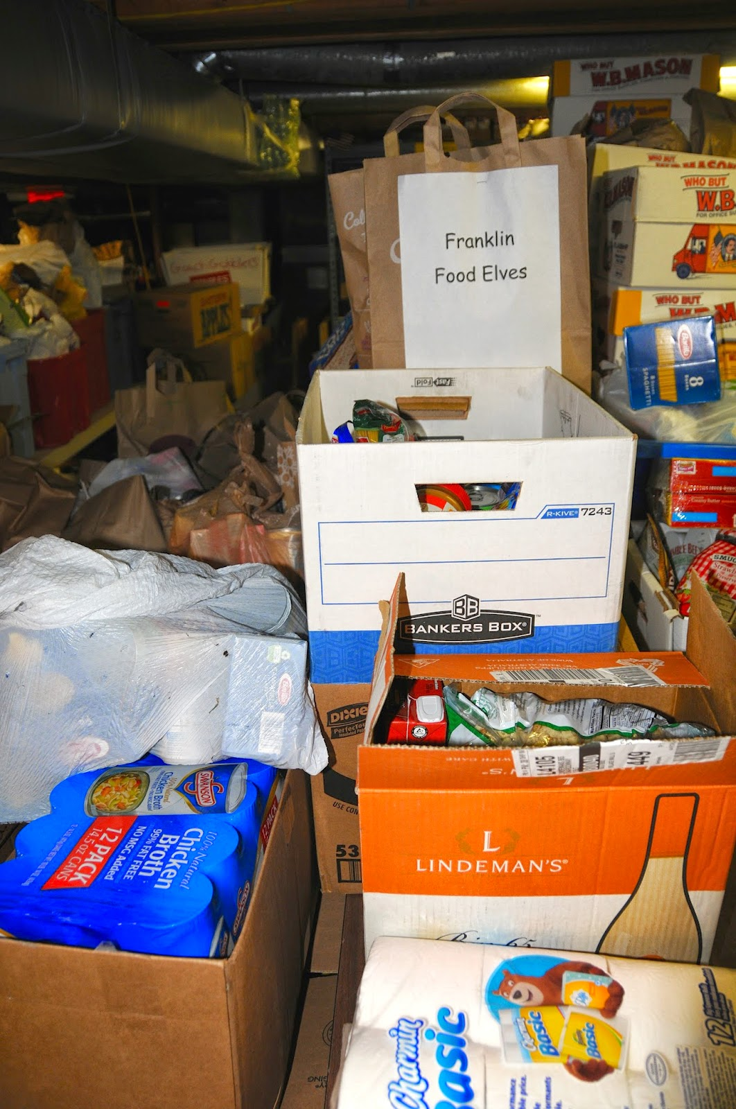 Some of the donations dropped off at the Food Pantry
