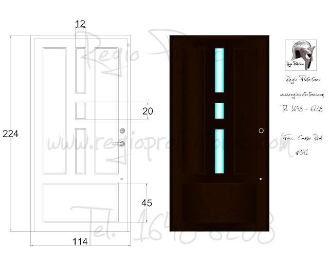 Regio protectores puerta principal modelo regina fracc - Puertas de herreria para entrada principal ...