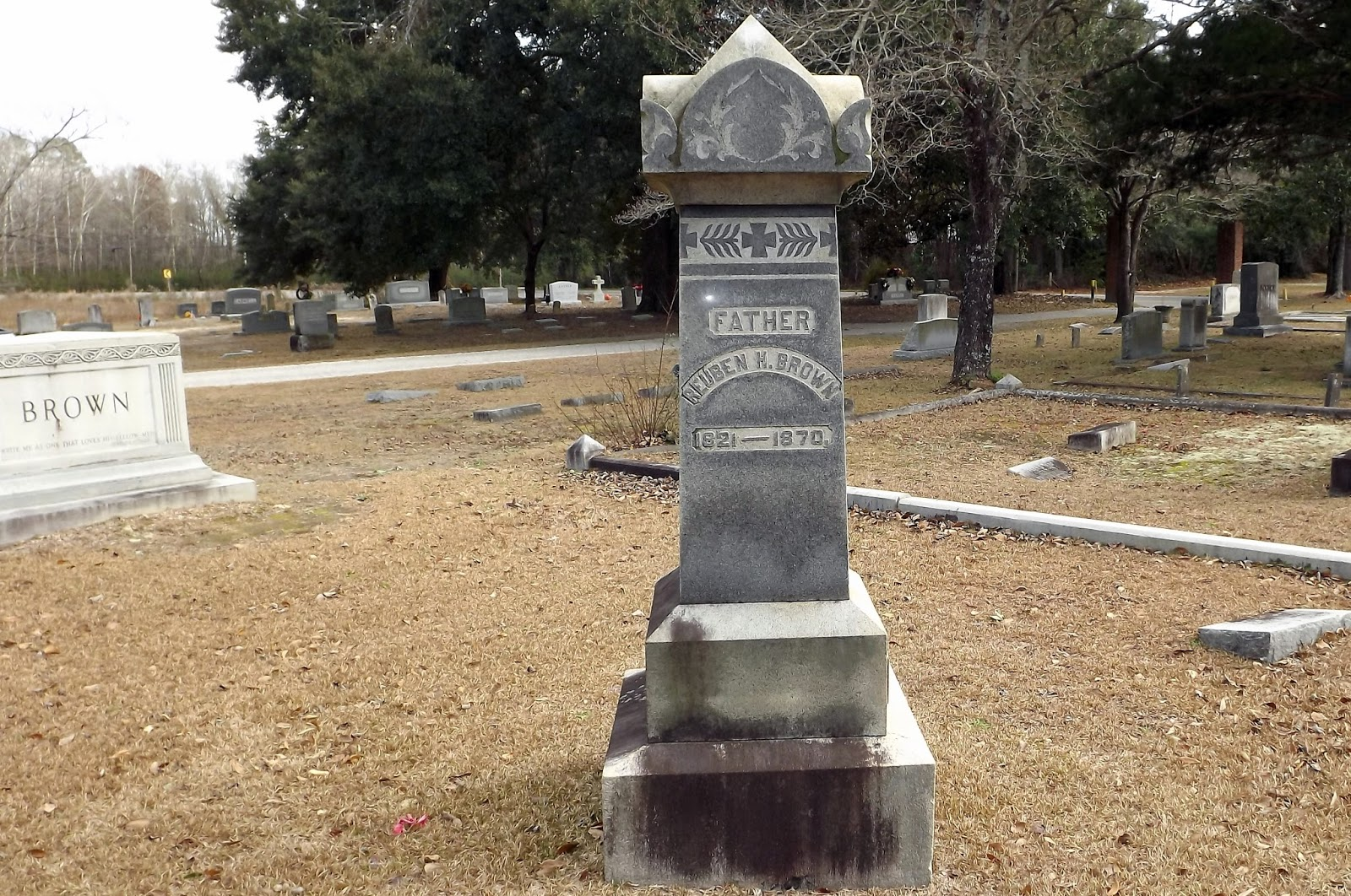 Reuben Brown Gravemarker Chadbourn, NC Photo by Mike Hollingsworth