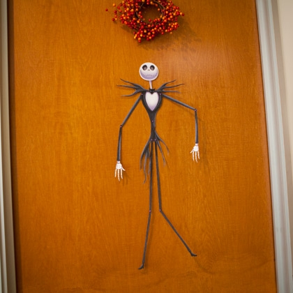 Sasaki time craft time jack skellington door decoration - Jack skellington decorations halloween ...
