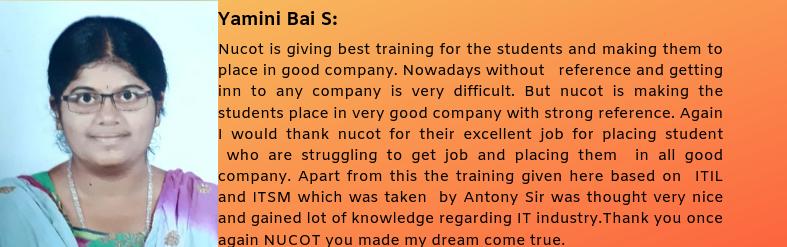 Yamini Bai S  got placed in Emudhra Pvt Ltd