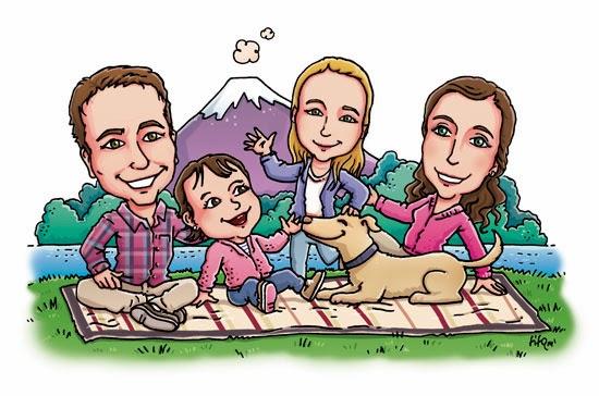 Fotos de familia en caricatura - Imagui