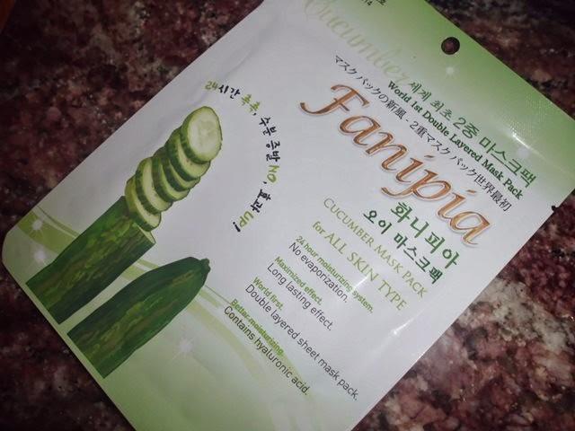 Double Layered Cucumber, Fanipia, Young Mi Cosmetics