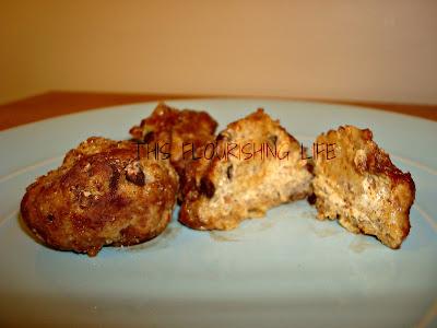 Raw Almond Butter Chocolate Chip Cookie Dough Balls