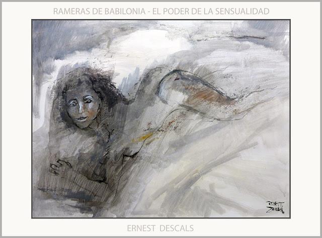 BABILONIA-ARTE-PINTURA-ALEJANDRO MAGNO-RAMERAS-SENSUALIDAD-HAREN-MUJERES-SEXO-EROTISMO-ARTISTA-PINTOR-ERNEST DESCALS-