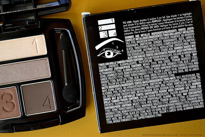 Avon True Color Eyeshadow Quad Chocolate Sensation Swatches Review FOTD Photos Indian Beauty Makeup Blog Ingredients